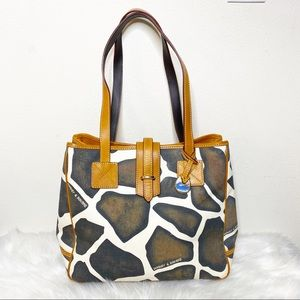 Dooney & Bourke Giraffe Print Shoulder Bag
